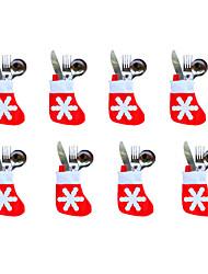 ornamentos 12pçs natal natal meias pouco 7 * 10 * 13 centímetros