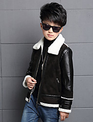 Boy's Casual/Daily Solid / Print Suit & Blazer,Cotton / Rayon Winter / Spring / Fall Black
