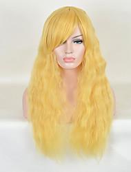 mulheres resistentes forma de onda longa naturais de calor barato cosplay peruca sintética