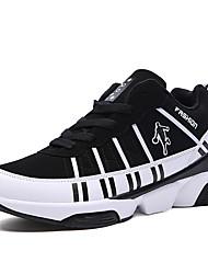 Masculino-Tênis-Conforto-Rasteiro-Azul / Preto e Vermelho / Preto e Branco-Camurça-Ar-Livre / Casual / Para Esporte