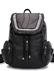 Women Sheepskin Polyester Cotton Casual Event/Party Office & Career Backpack