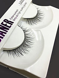 Full Strip Lashes Eyes Thick Handmade mink hair eyelash Black Band 0.10mm 12mm LD203