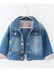 Girl's Casual/Daily Print Jacket & CoatCotton Spring / Fall Blue