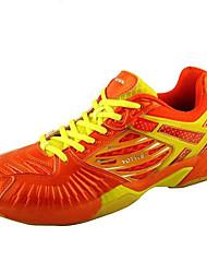 унисекс работает спортивная обувь падать приятный кожаный спортивный плоский каблук шнуровке оранжевый бадминтона