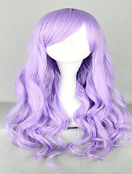 Fashion 70cm Long Wave Classical Purple Synthetic High Quality Women Party Cosplay Lolita Wig