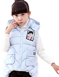 Girl's Going out Solid VestCotton Winter Pink / Purple / Red
