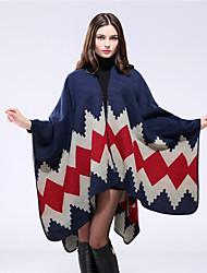 NITE OWL Women Faux Fur ScarfCasual RectangleRedJacquard-16023