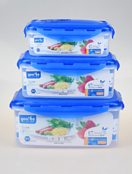 Heatproof Nesting Rectangular Vacuum Food Container 3 pcs Set