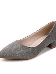 Damen-High Heels-Kleid-Wildleder-Blockabsatz-Komfort-Schwarz / Grau / Burgund