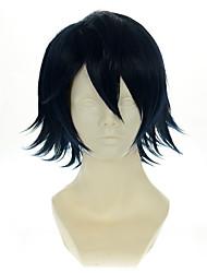 k saruhiko fushimi versátil azul escuro virou alice dia das bruxas perucas perucas traje perucas sintéticas