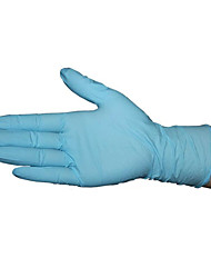 Disposable Blue Nitrile Latex Gloves  Size M (1 Boxes of 100 (50 Pairs))
