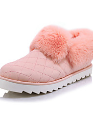 Women's Loafers & Slip-Ons Spring / Fall / Winter Comfort PU Dress / Casual Flat Heel Slip-on Black / Pink / White