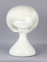 Special Style White 30cm Short Straight Man Cosplay Wig