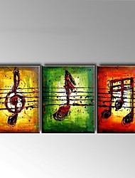 Hand-Painted Abstract Oil Painting Musical Melody Symbol For Home Decoration Stretched Frame Ready To Hang