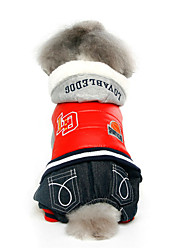 Dog Coat / Hoodie / Clothes/Jumpsuit Multicolor Dog Clothes Winter / Spring/Fall Color Block Fashion / Keep Warm