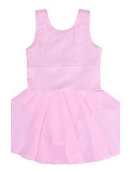 Toddler Girls Ballet Gymnastics Leotard/ Unitard Lace Cotton Dancewear in Cyan/Hot Pink/Black /Pink/Purple for 3-12Years