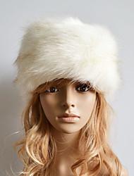 Women Faux Fur Simple Warm Ski Hat Cute / Casual Winter Beige / Gray / Brown