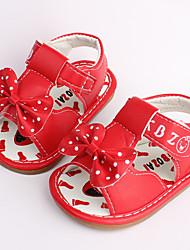 Girls' Sandals PU Casual Orange Ruby Blue Flat