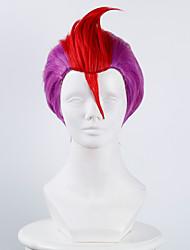 casa de detenção No.69 rocha roxo e vermelho das bruxas perucas perucas traje perucas sintéticas