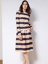 Damen Röcke - Niedlich Knielang Acryl / Polyester Mikro-elastisch