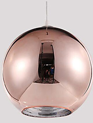 Pendant Light ,  Modern/Contemporary Globe Electroplated Feature for Designers GlassLiving Room Bedroom Dining Room Kitchen Study