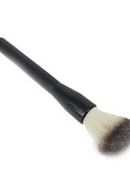 1 Blush Brush Nylon Hair Portable Wood Face Black