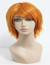 35cm Short Orange The Prince of Tennis-Wakato Hiroshi Cosplay Wigs Synthetic Men Party  Anime Wig