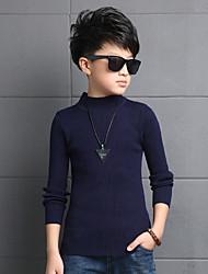 Chlid's Wild Solid High Neck Slim Skinny Pullover Bottom Knitwear Sweater & Cardigan
