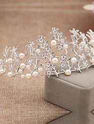 Women's Rhinestone Alloy Imitation Pearl Headpiece-Wedding Special Occasion Tiaras 1 Piece