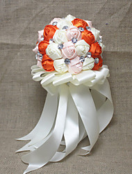 "Wedding Flowers Free-form Roses Bouquets Party/ Evening Satin 9.06""(Approx.23cm)"