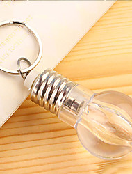 3PCS Creative Light Bulbs  Key Buckle  Colorful Light Bulb Keychain  Mini Colorful Light Bulb Key Ring  (Random Colour) With Battery