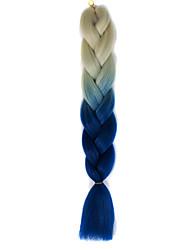 beige blau ombre häkeln 24 yaki kanekalon 2 tone Jumbo Zöpfe 100g Kunsthaar