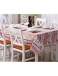 Square Patterned Table Cloth , 100% Cotton Material Dinner Decor
