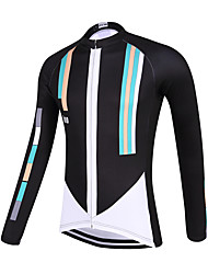 Sports QKI 100 Style Cycling Jersey Unisex Long Sleeve Bike Breathable / Quick Dry / Anatomic Design / Front Zipper / Sweat-wicking Jersey Polyester