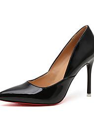 Women's Heels Fall Winter Comfort PU Casual Low Heel Black Silver Gold Beige Other
