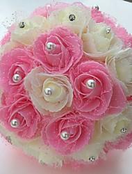 Fleurs de mariage Rond Roses Bouquets Mariage La Fête / soirée Satin Mousse Env.25cm