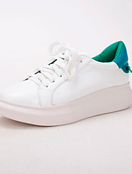 Homme-Décontracté-Vert / RougeConfort-Sneakers-Cuir