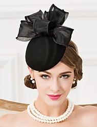 Mulheres Organza / Lã Capacete-Casamento / Ocasião Especial / Casual Bandanas / Chapéus 1 Peça