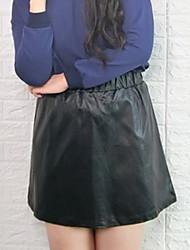 Mujer Sencillo Sobre la Rodilla Faldas,Línea A Un Color