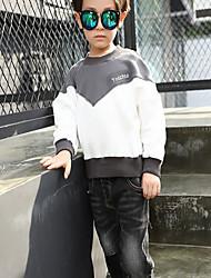 Unisex Casual/Daily Patchwork Hoodie & Sweatshirt,Cotton Winter / Fall Long Sleeve Regular