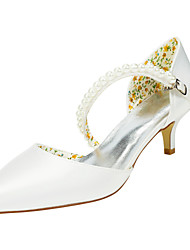 Women's Heels Spring / Fall Others Stretch Satin Wedding / Party & Evening Stiletto Heel Pearl Ivory / White Others