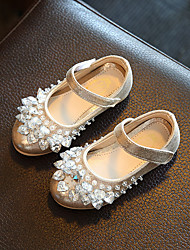 Girl's Flats Spring Fall Others PU Casual Flat Heel Sparkling Glitter Magic Tape Pink Silver Gold Others