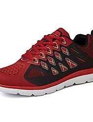Femme-Décontracté / Sport-Vert / Rouge / Gris-Talon Plat-Confort-Chaussures d'Athlétisme-Synthétique