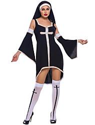 Costumes de Cosplay Fête / Célébration Déguisement Halloween Noir Couleur Pleine Robe / Jambières / Fabrication CAP Halloween / Carnaval