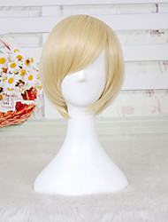 Light Blonde Short Length Fshion Heat Resistant Synthetic Wig for Daily or Cosplay Custome Wig Japanese Animee Party Hair