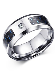 Men's Ring AAA Cubic Zirconia Luxury Stainless Steel Zircon Cubic Zirconia Jewelry For Daily Casual