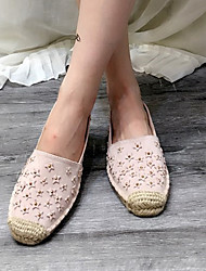 Women's Loafers & Slip-Ons Fall Comfort Suede Casual Flat Heel Beading Pink Others