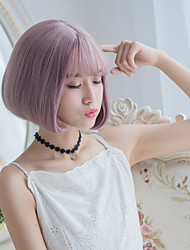 NEW Milky Lavender Color Short Fashion Beauty Synthetic Wig Heat Resistant Wig for Dailly or Cosplay
