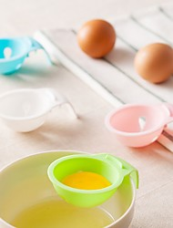 1 Piece Funnel For Egg Plastic Creative Kitchen GadgetRandom color