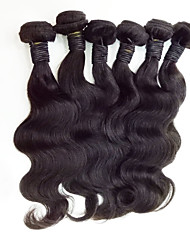 6Pcs/Lot  Mix Size 8-30inch Malaysia Virgin Straight Hair Natural Black Human Hair Weave Hot Sale.
